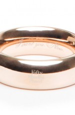 50 Shades Freed - I Want You. Now. Steel Love Ring