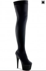 Kozaki Pleaser - ADORE-3002 Black Stretch Velvet