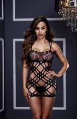 Koszulki bezszwowe Baci - 3128 Double Strap Lace Mini Dress